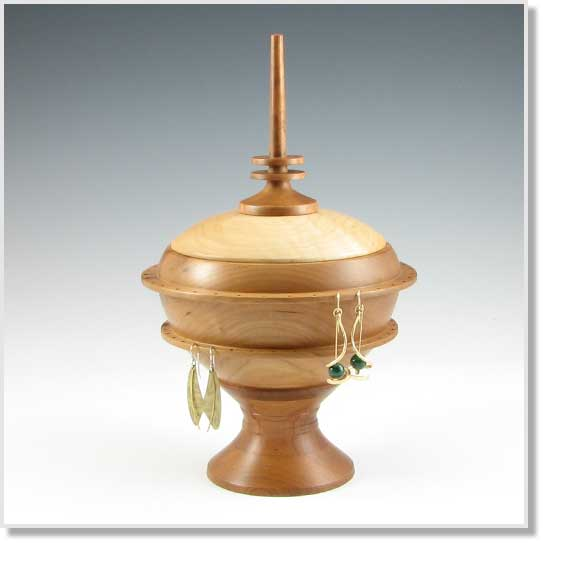 Barclay Fine Woodworking Pedestal Style Turned Jewelry